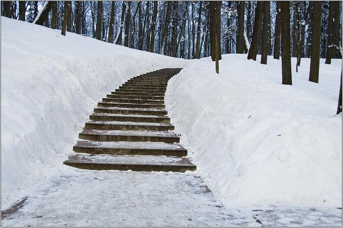Лестница в царицынском парке.