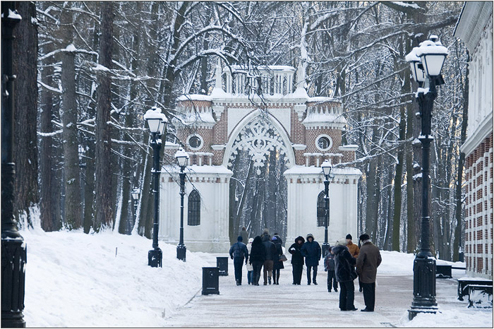 Фигурные (Виноградные) ворота. Царицыно парк - усадьба.