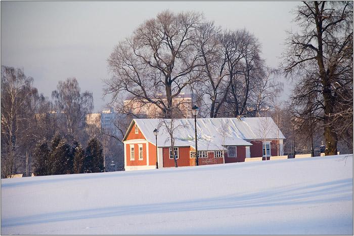 Зима в Царицыно. Красный домик