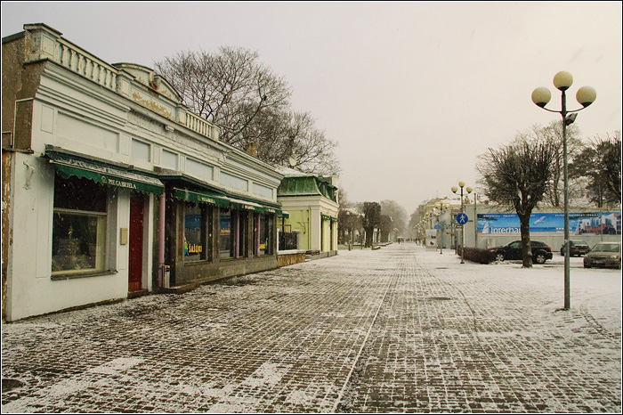 Латвия. Юрмала. Фото города. Юрмала Зимой